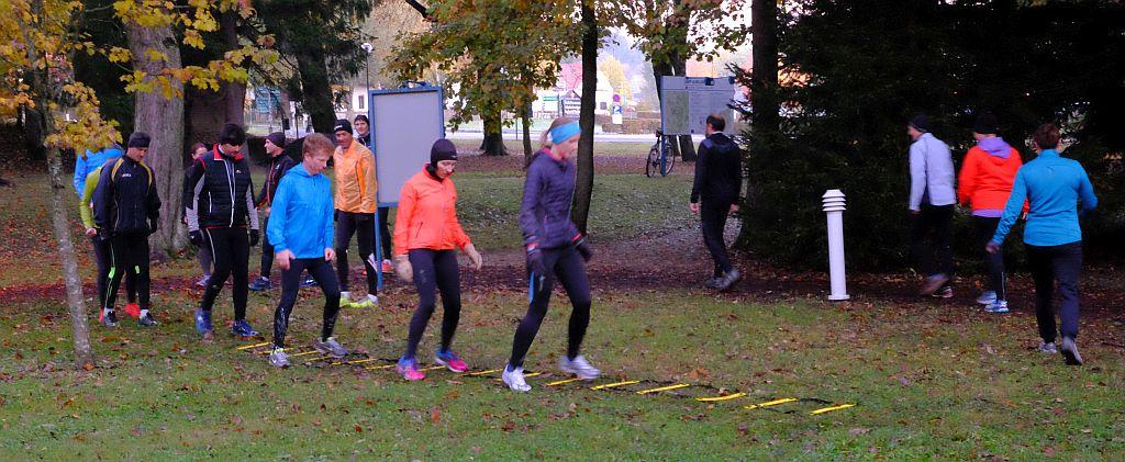Mit meinem Lieblings-Co-Läufern Silvia und Gunther beim aktiven Erwachen – oder Schinderei á la Harald :-)