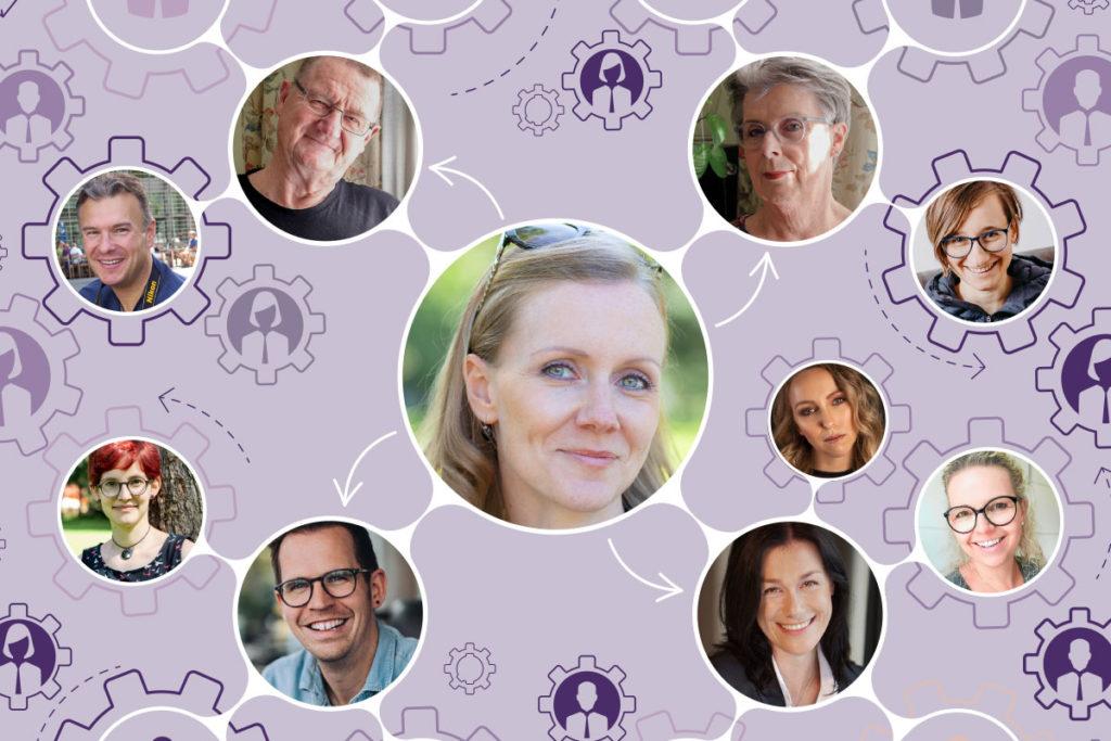 Margit Wickhoff und das Team der Textagentur Wortspiel aus Graz